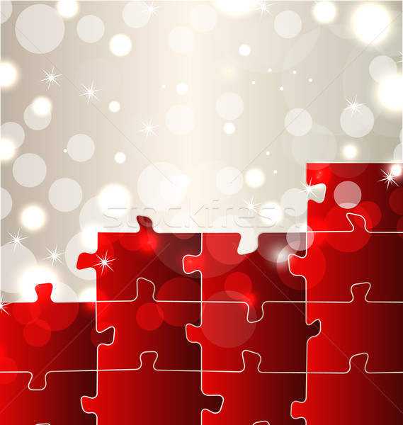 Abstract background with set puzzle pieces Stock photo © smeagorl