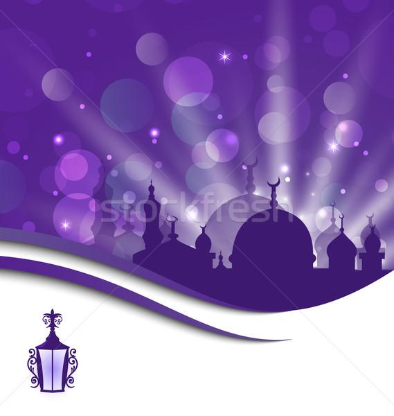 Greeting card template for Ramadan Kareem Stock photo © smeagorl
