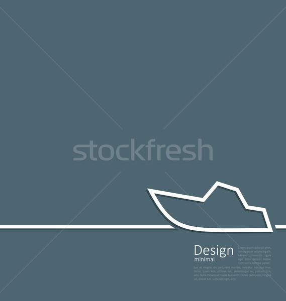 Logo jacht minimalny stylu line ilustracja Zdjęcia stock © smeagorl