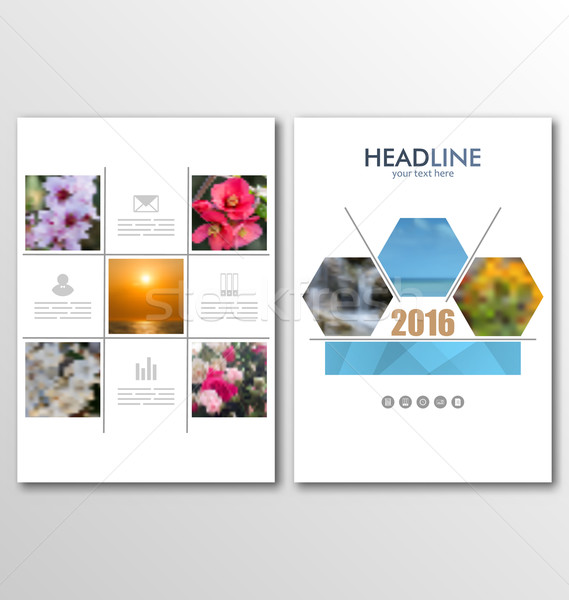 Layout Can Be Used for Design for Poster, Magazine, Flyer. A4 Size Stock photo © smeagorl