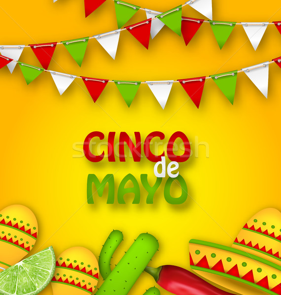 Holiday Celebration Poster for Cinco De Mayo Stock photo © smeagorl