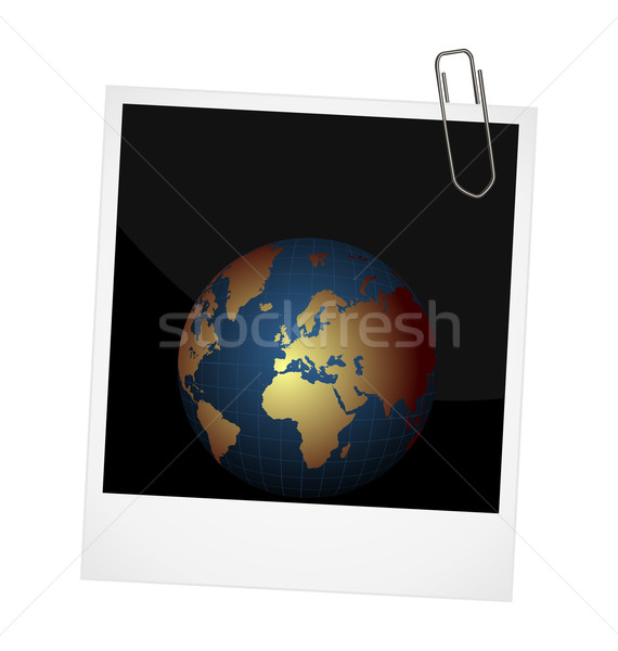 Illustration of our planet on photo frame background Stock photo © smeagorl