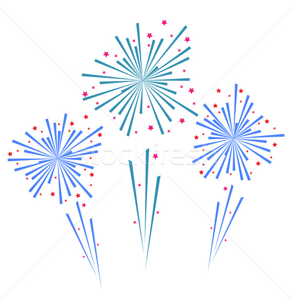 Sketch abstract colorful exploding firework Stock photo © smeagorl