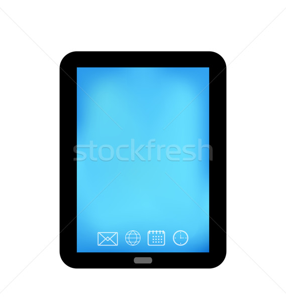 Tablet computer with panel navigation, smart device isolated Stock photo © smeagorl