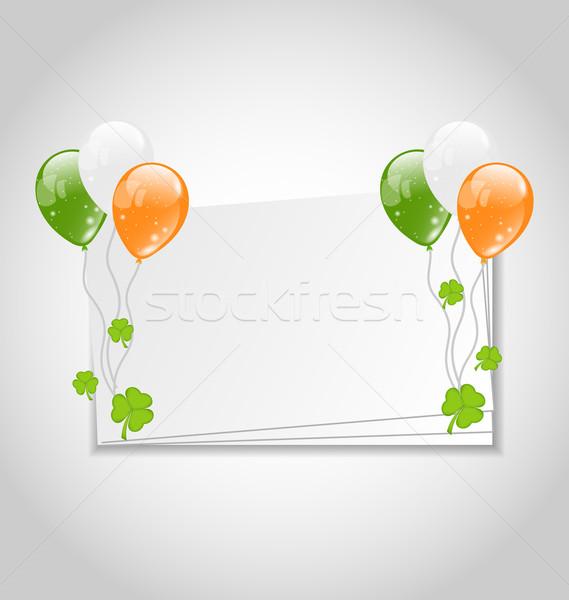 празднования карт шаров ирландский флаг цвета Сток-фото © smeagorl