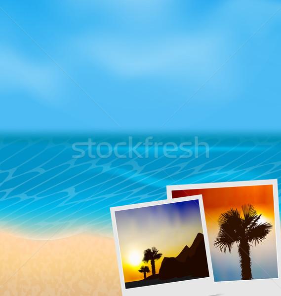 Set vacation beautiful beach photographies  Stock photo © smeagorl