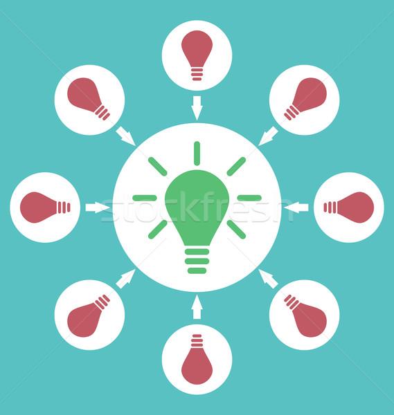 Ikon folyamat ötletek megold problémák születés Stock fotó © smeagorl