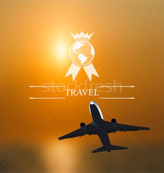 Terv jegyek világszerte utazás vállalati website design Stock fotó © smeagorl