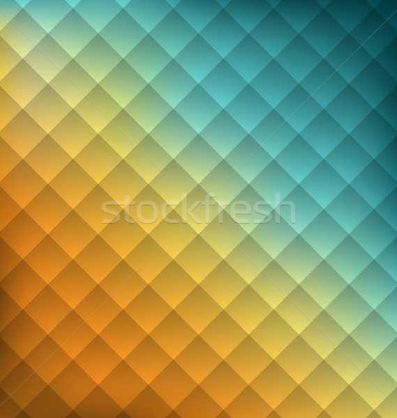 Illustration Geometrical abstraction background with squares Stock photo © smeagorl