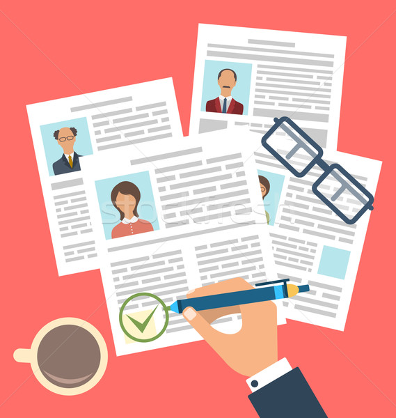 Concept of Human Resources Management Stock photo © smeagorl