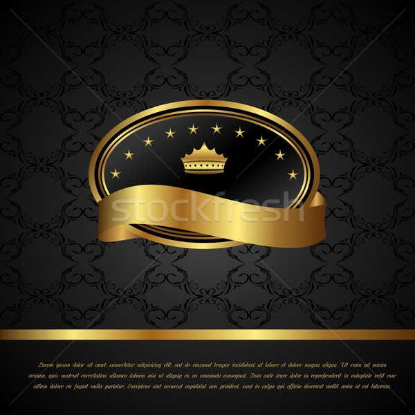 Royal background with golden frame Stock photo © smeagorl