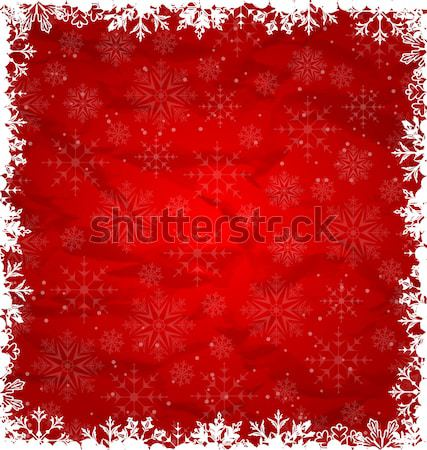 Christmas Border Made in Snowflakes Stock photo © smeagorl