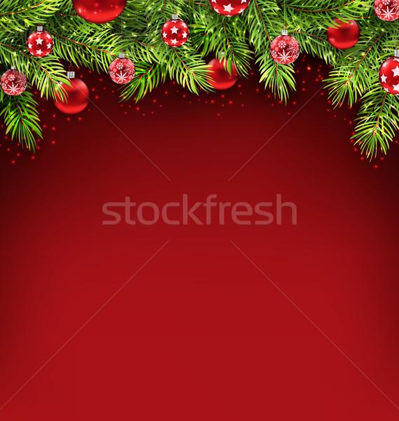 Natale vetro illustrazione Foto d'archivio © smeagorl