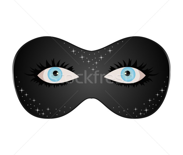 blue eyes hidden under theatrical mask Stock photo © smeagorl