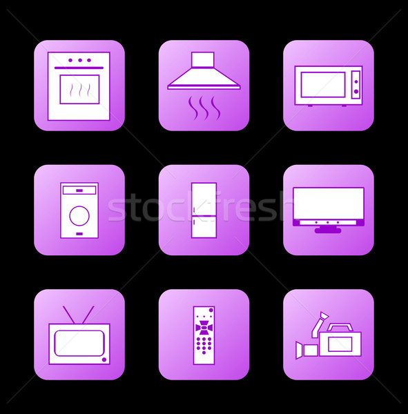Сток-фото: икона · вектора · кухне · знак · экране