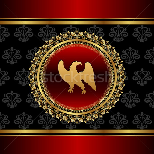 vintage background with heraldic eagle Stock photo © smeagorl