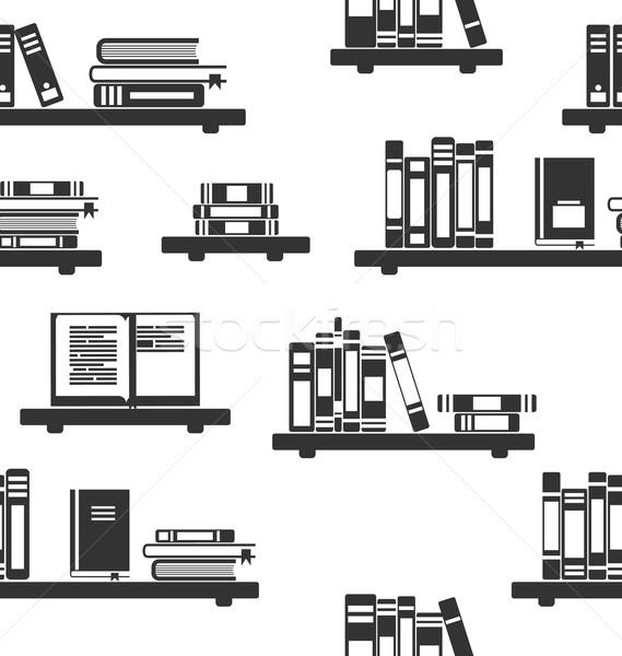 Livros prateleiras para livros ilustração mínimo projeto Foto stock © smeagorl
