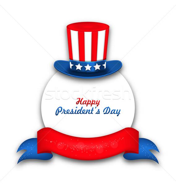 Stock fotó: ünneplés · kártya · boldog · nap · USA · illusztráció