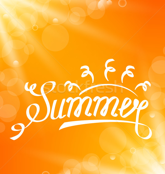 Summer Abstract Banner with Text Lettering Stock photo © smeagorl