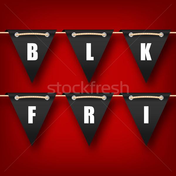 Black friday suspendu publicité affiche illustration vecteur Photo stock © smeagorl