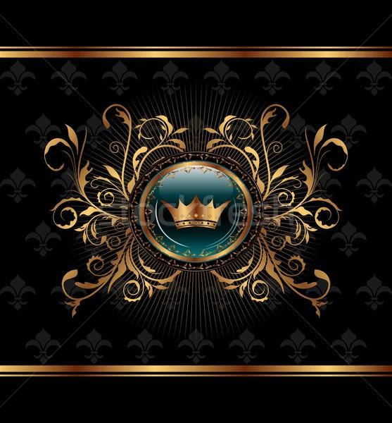 Сток-фото: золото · приглашения · кадр · иллюстрация · элегантный