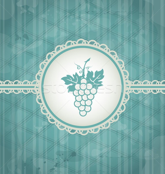 Vintage wijnstok label grunge textuur illustratie wijn Stockfoto © smeagorl