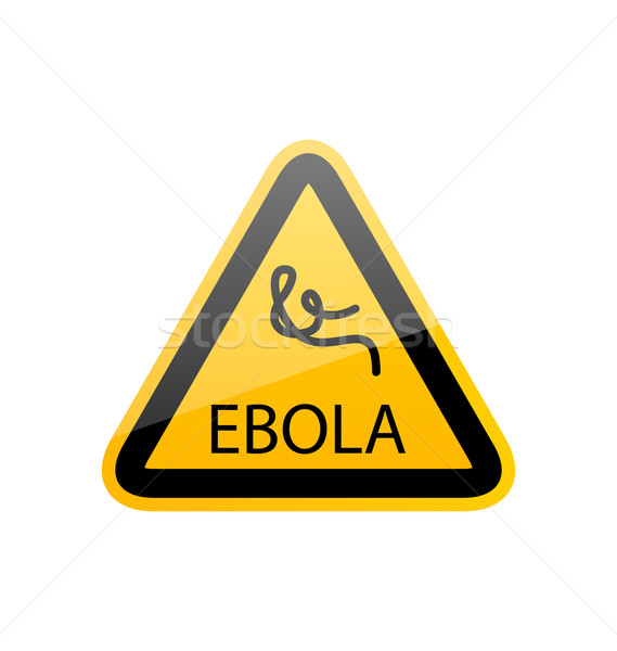 Sign epidemic Ebola, danger symbol warning Stock photo © smeagorl