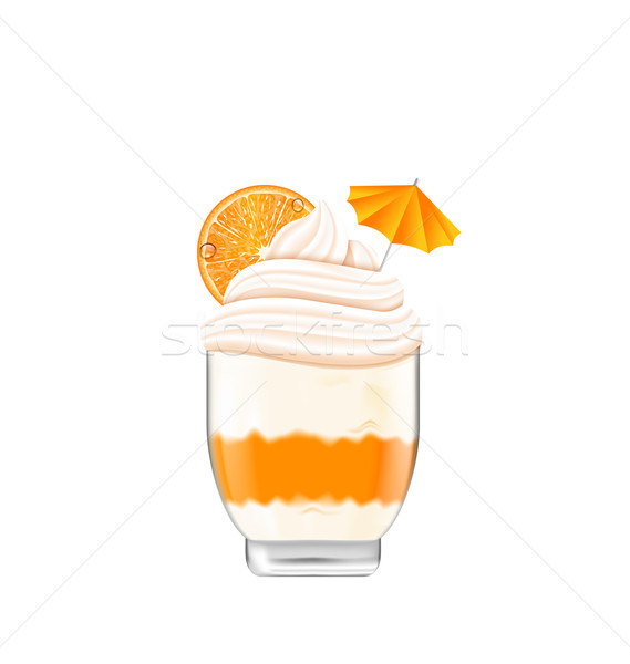 Icecream with Whipped Cream Stock photo © smeagorl