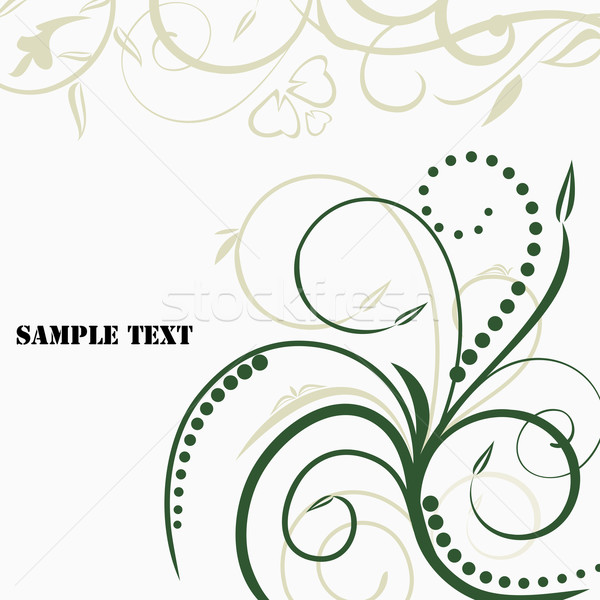 Illustration invitation card with floral background Stock photo © smeagorl