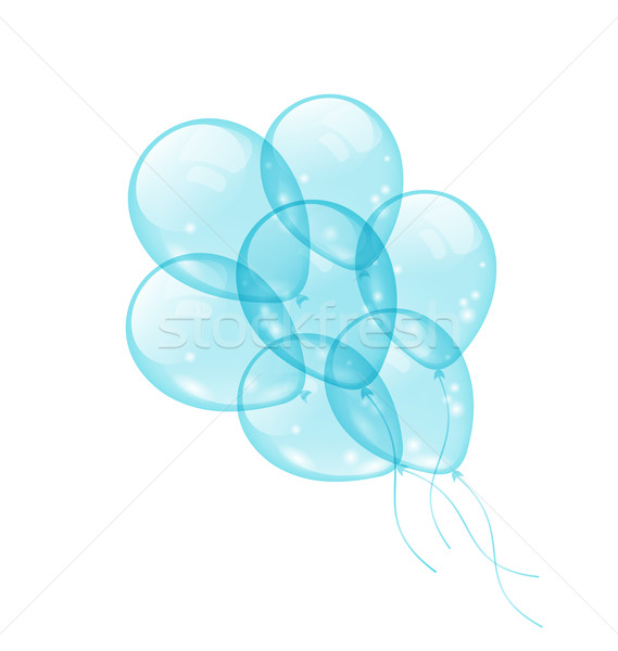 Bunch blue balloons isolated on white background Stock photo © smeagorl