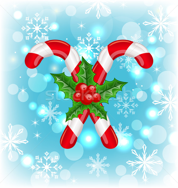 Christmas karmel Berry ilustracja czerwony Zdjęcia stock © smeagorl