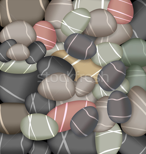 Illustration sea pebbles texture Stock photo © smeagorl