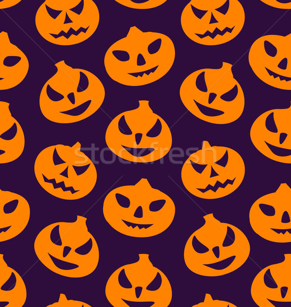 Seamless Pattern with Spooky Pumpkins Stock photo © smeagorl