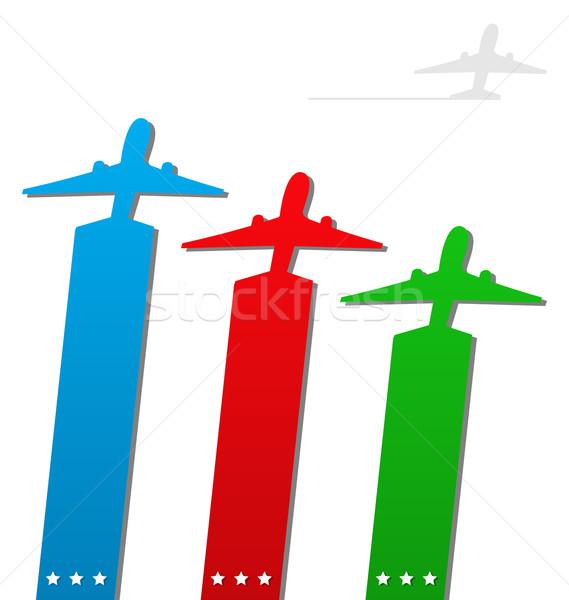 Establecer aviación empresa ilustración Foto stock © smeagorl