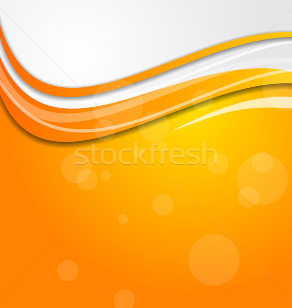 Abstract bright orange background with circles Stock photo © smeagorl