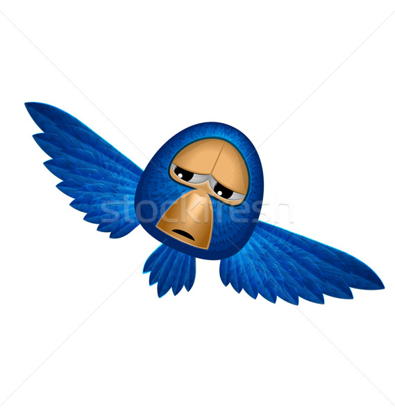 Angry blue bird soars and looks to you Stock photo © smeagorl