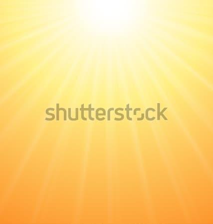 Abstract Orange Sky Background Sun Rays Stock photo © smeagorl