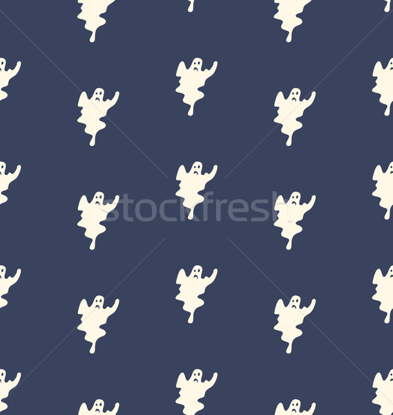 Halloween Seamless Pattern with Ghosts Stock photo © smeagorl
