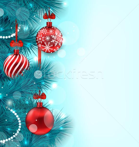 Christmas Lighten Background Stock photo © smeagorl