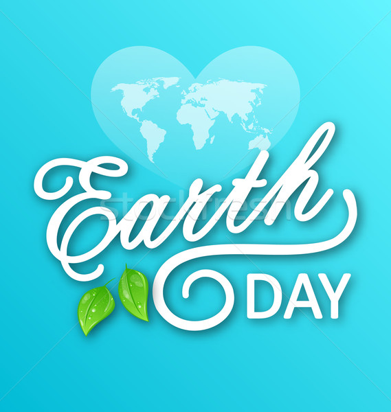 Concept Background for Earth Day Holiday, Lettering Text. Typographic Elements Stock photo © smeagorl
