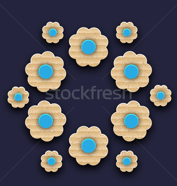 Paper flowers background, handmade composition  Stock photo © smeagorl