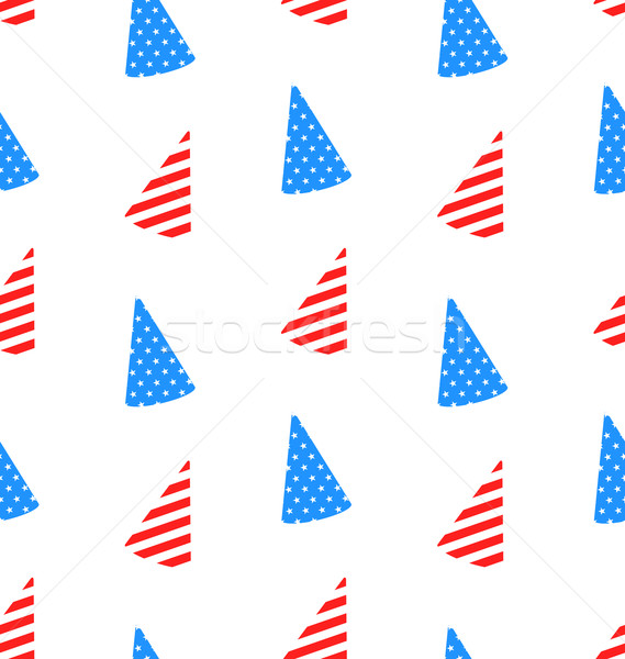 Seamless Texture Hudcap for Independence Day Stock photo © smeagorl