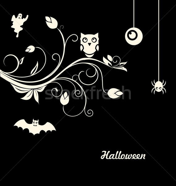 Halloween Flourish Dark Background Stock photo © smeagorl