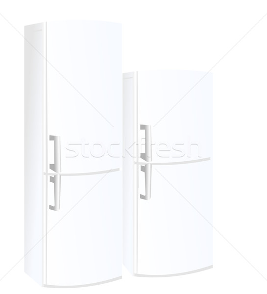 Realistic vector illustration refrigerator Stock photo © smeagorl