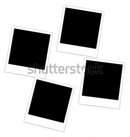 Collectie ingesteld vier foto's frame Stockfoto © smeagorl