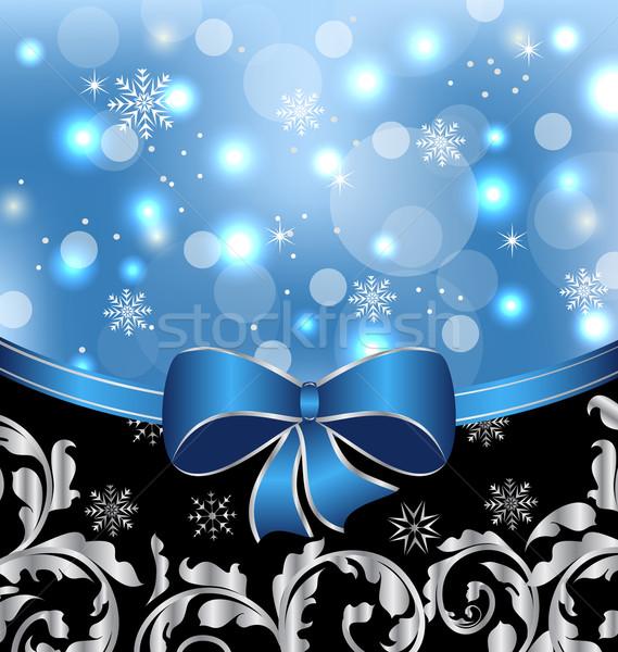 Natal floral projeto elementos Foto stock © smeagorl