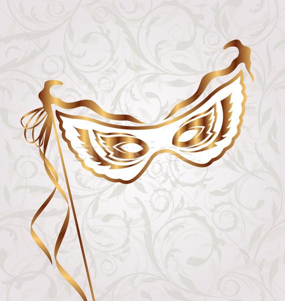 ベニスの カーニバル 劇場 マスク 実例 羽毛 ストックフォト © smeagorl