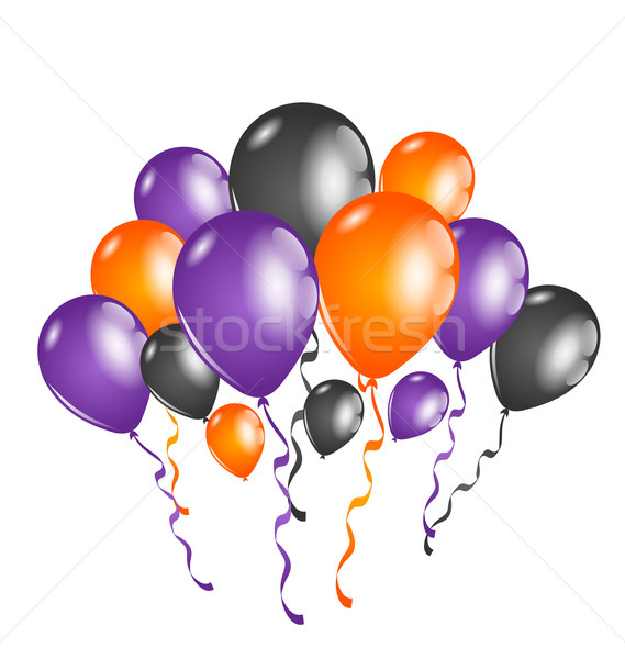 Set colorful balloons for Halloween party Stock photo © smeagorl