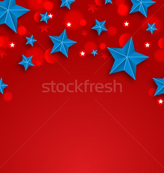ストックフォト: 星 · アメリカン · 休日 · 場所 · 文字 · 実例