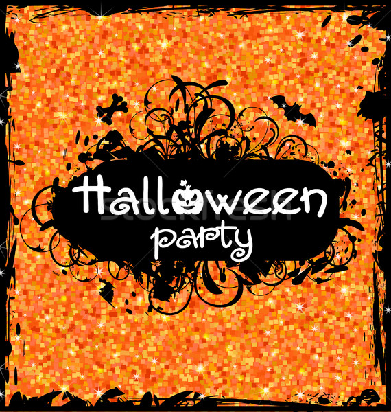 Grunge Dirty Frame for Halloween Party Stock photo © smeagorl